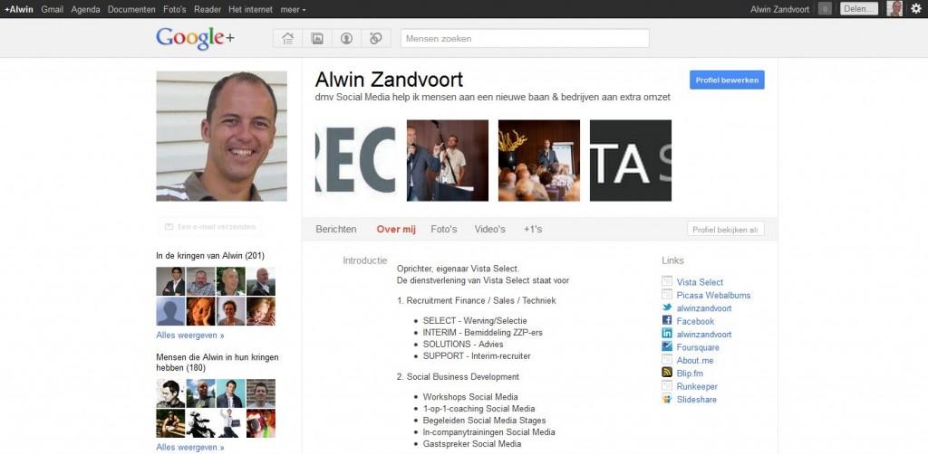 Google+ profile